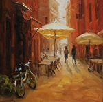 Rainy Day Sun Day by Carole Mayne Oil ~ 8 x 8