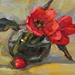 Tulips by Carole Mayne Oil ~ 6 x 6