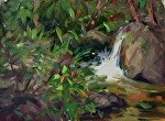 Waterfall, Thailand by Carole Mayne Oil ~ 9 x 12