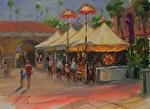 Del Mar Fair Demo by Carole Mayne Oil ~ 9 x 12