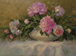 Peonies for Breakfast by Carole Mayne Oil ~ 12 x 16
