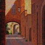 Ancient Arches, Assisi by Carole Mayne Oil ~ 8 x 8