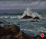 Monterey Breakers by Carole Mayne Oil ~ 16 x 20
