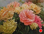 Full Blooms by Carole Mayne Oil ~ 11 x 14