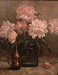 Peony Season by Carole Mayne Oil ~ 20 x 16
