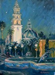 Night Music - Balboa Park by Carole Mayne Oil ~ 12 x 9
