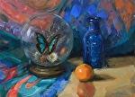 Something Old, Something New, Something Borrowed, Something Blue by Carole Mayne Oil ~ 9 x 12
