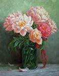 Peachy Keen by Carole Mayne Oil ~ 16 x 12