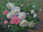 Peony Garden by Carole Mayne Oil ~ 16 x 20