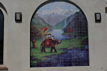 Where Himalayas and Ganges Meet by Carole Mayne  ~ 9' x 7'  Tile Mural
