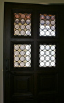 Blenko Rondel Entry Doors by Carole Mayne Glass ~  x