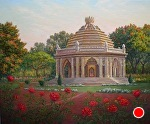 Smriti Mandir, Dawn by Carole Mayne Oil ~ 20 x 24