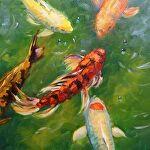 Fairy Tail by Carole Mayne Oil ~ 8 x 8