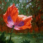 Catch the Sun by Carole Mayne Oil ~ 8 x 8