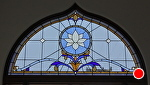 Leaded Glass Window by Carole Mayne  ~ 42 x 72