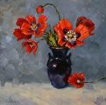 Sing a New Tune by Carole Mayne Oil ~ 12 x 12