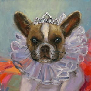 It's Good to be Queen by Carole Mayne Oil ~ 6 x 6