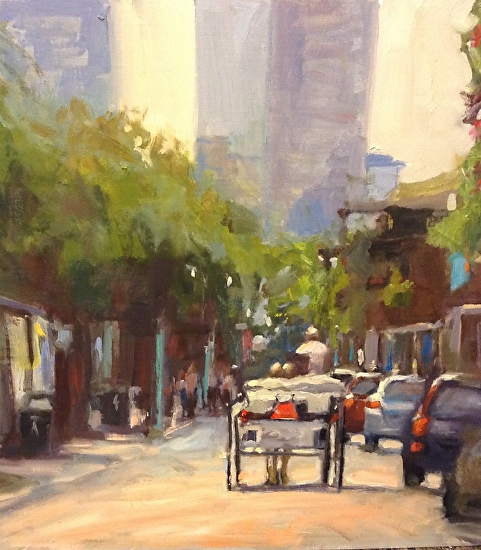 Armstrong, Jodi, French Quarter Scene - Oil