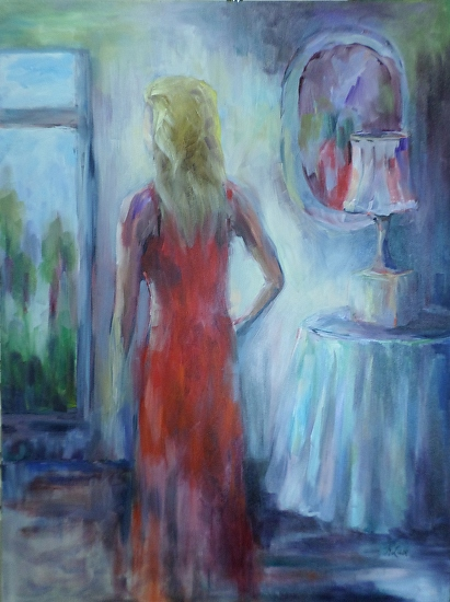 "Lusk, Kay, ""The Red Dress"" - Acrylic"