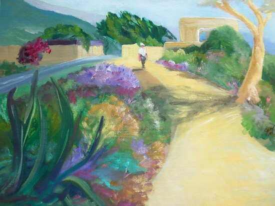 A Walk in the Park--on the Right Path - Oil