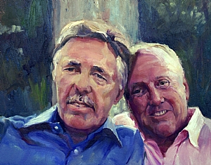 Jim and Hans by Elizabeth Taft Oil ~ 16 x 20