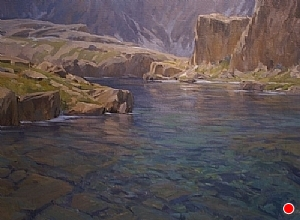 Glacial Waters by Jesse Powell Oil ~ 30 x 40