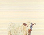 Annie Belle on White by Nancy Bass Oil ~ 24 x 30