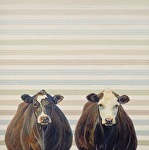 Zoe and Ella by Nancy Bass Oil ~ 30 x -