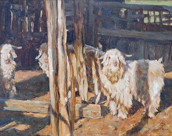 """Ema`s Goats"" - Oil"