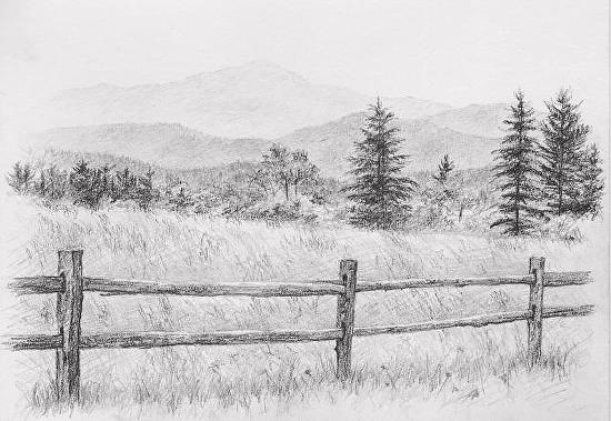 picket fence drawing. Picket Fence Drawing F