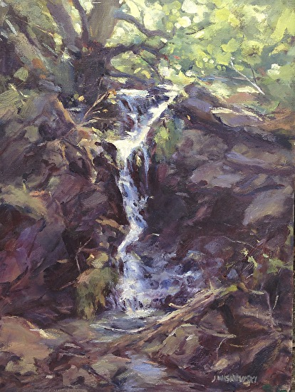 Tricklings of Reservoir Canyon Falls - Oil