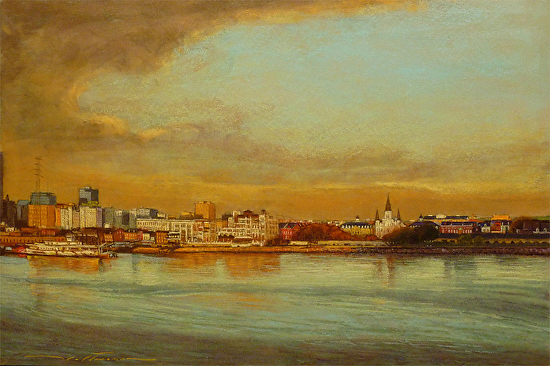 Early Morning in New Orleans - Pastel