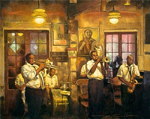 "Tornado Brass Band by Alan Flattmann Pastel ~ 24"" x 30"""