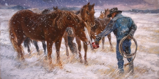 Winter Ambush - Oil