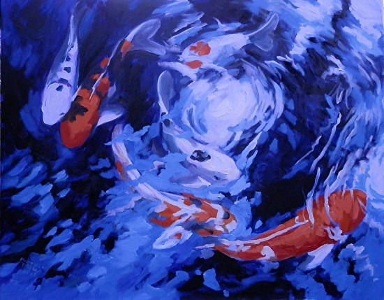 Hawaiian Koi - Oil