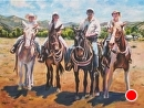 "The Reilly Gang by Brent McCarthy Oil ~ 40"" x 30"""