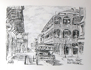 "Royal Street by Brent McCarthy Lithograph ~ 16"" x 12"""