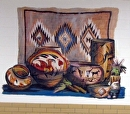 Harlandale Middle School (native american pottery) by Brent McCarthy Acrylic ~ 6 ft x 11 ft