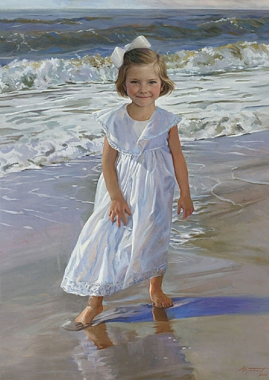 Elizabeth by Steve Moppert Oil ~ 46 x 33