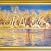 River of Golden Ribbons (framed)