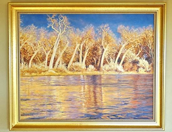 River of Golden Ribbons - Oil