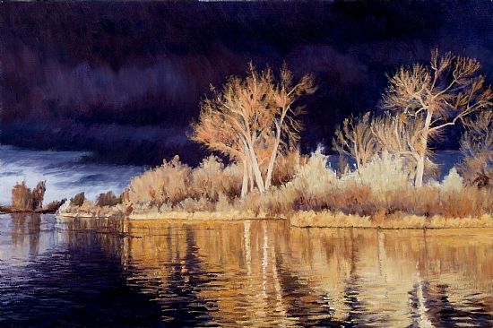 Ominous Beauty by Greg Eiselein Oil ~ - x -