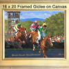 """Framed """"Steeplechase 2015"""" Giclee by Richard Christian Nelson"""