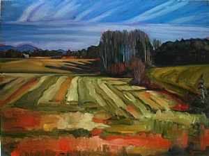 Carolina Fields.3 by Keith Spencer Oil ~ 48 x 36
