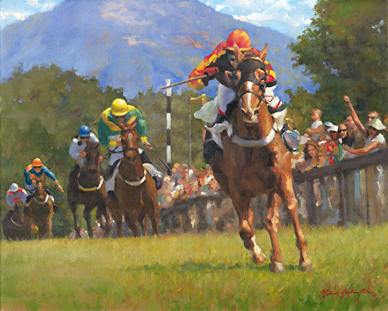 Steeplechase! - Oil