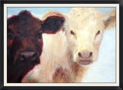 """Dos Companeros en la nieve by Daniel Grove Oil ~ 9"""" x 12"""""""