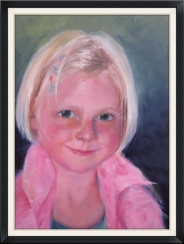 Little Girl In A Pink Jacket - Oil