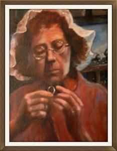 The Silversmith (oil on panel, 16