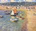 Quiescent Harbor 42x48 by Richard Oversmith