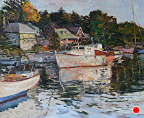 Lobster Cove by Dennis Poirier Oil ~ 30 x 36